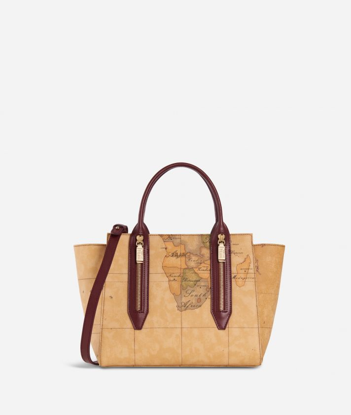 Autumn Geo Small Handbag Cabernet