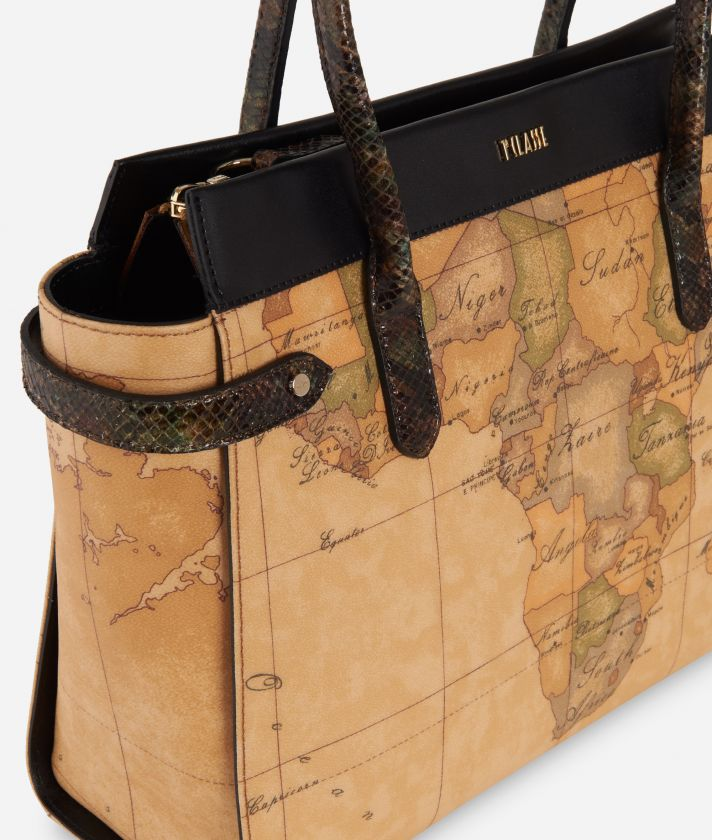 Fantasy Geo Shopping bag Nera