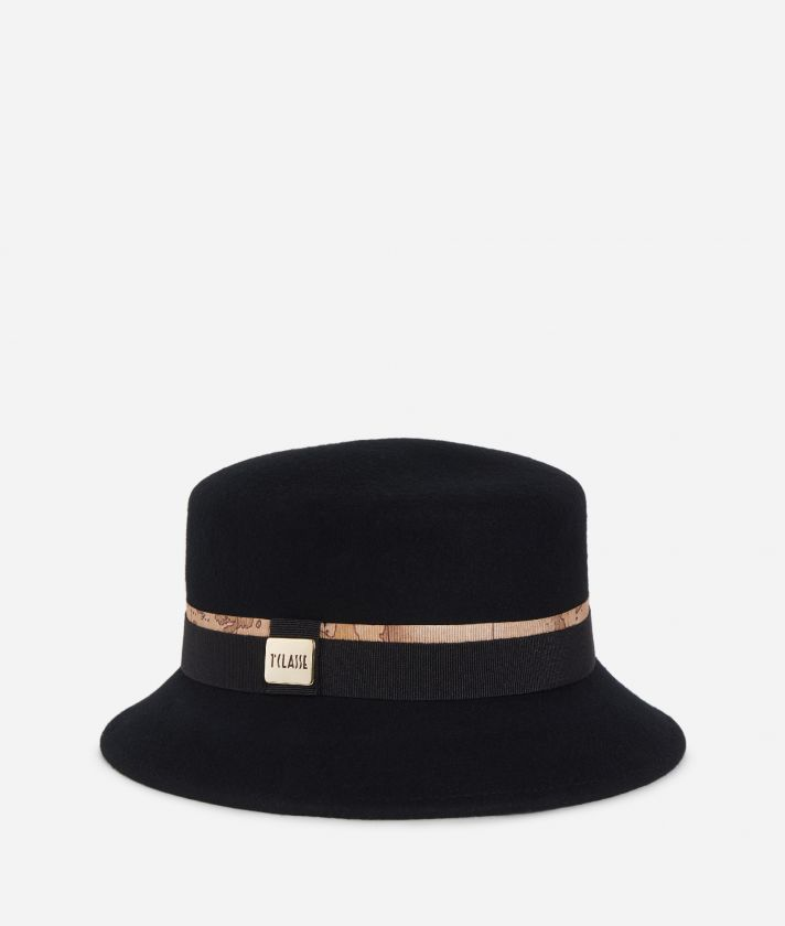 Casual felt hat  Black