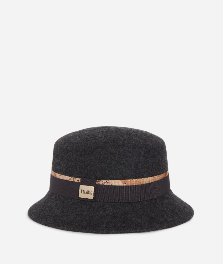 Casual felt hat Dark Grey
