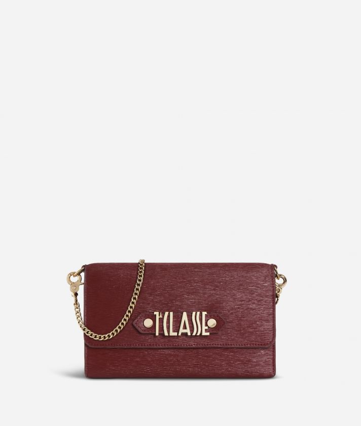 Winter Smile Pochette portacellulare Bordeaux