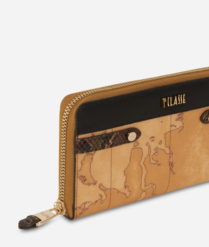 Fantasy Geo Ziparound Wallet Black