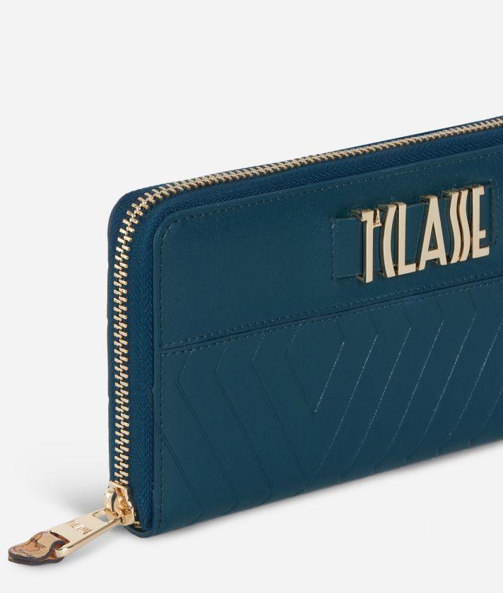 Starlight Line Ziparound Wallet Teal