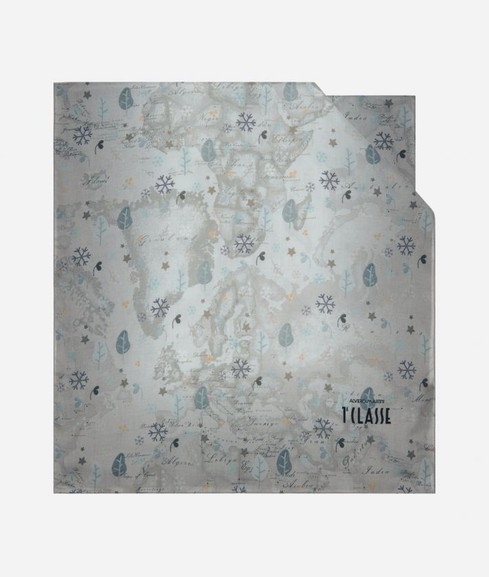 White Snow Silk Scarf 45 x 180 White