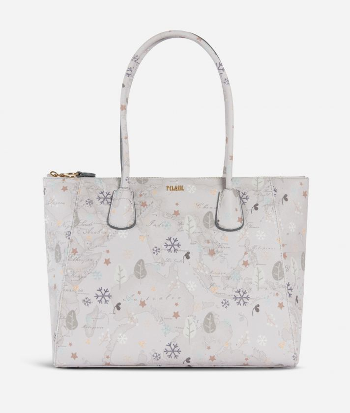 White Snow Shopping Bag