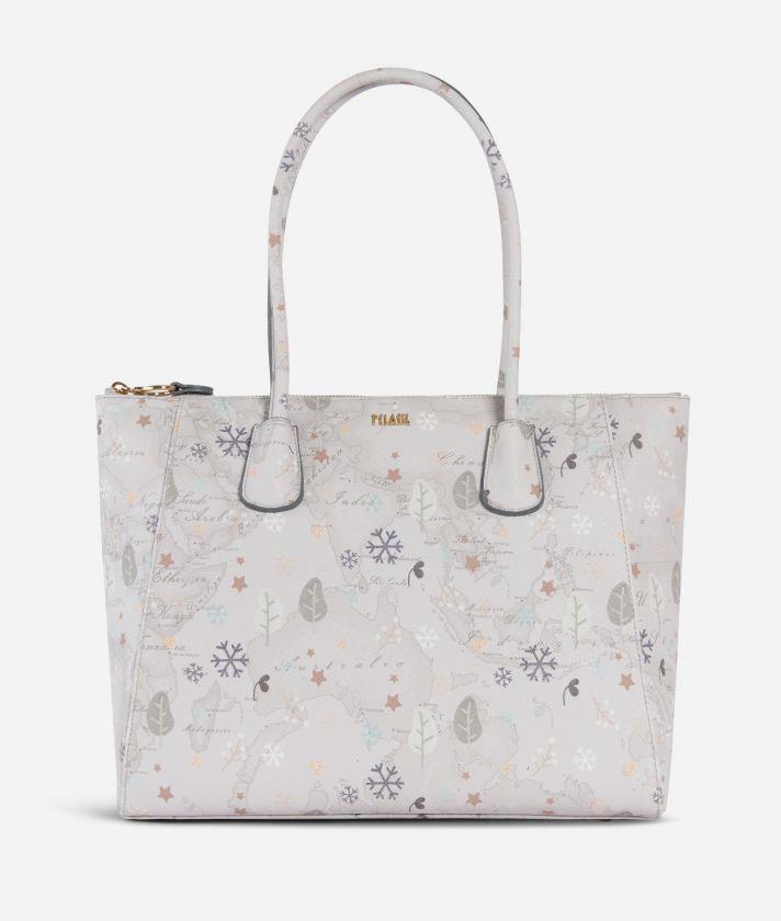 White Snow Shopping Bag