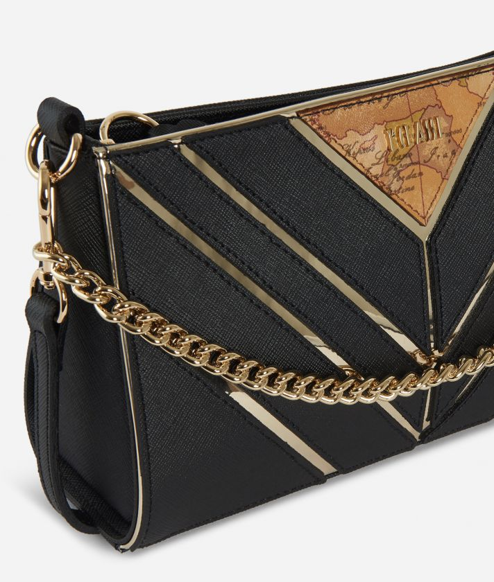 Jewel Bag Tracollina con catena Nera