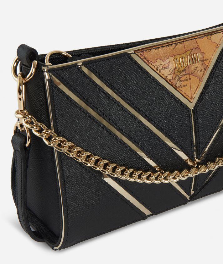Jewel Bag Tracollina con catena Nera