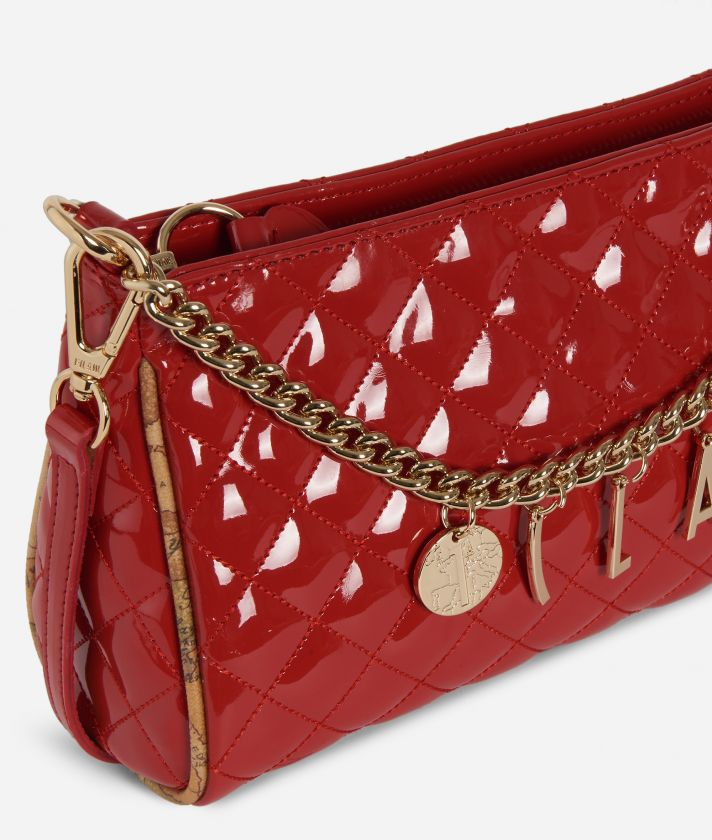 Jewel Bag Quilted texture Crossbody bag Red