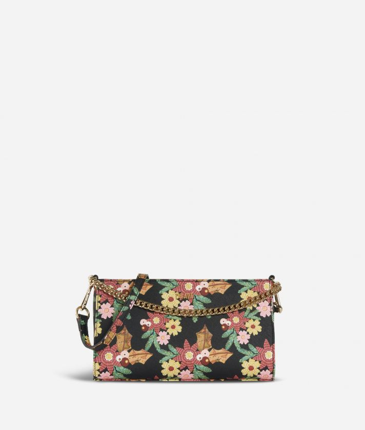Jewel Bag Crossobody Bag with Christmas Flower print
