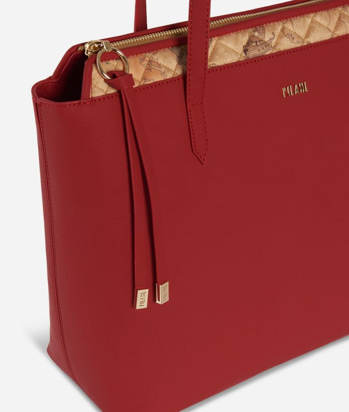 Artic Map Shopping Bag Red