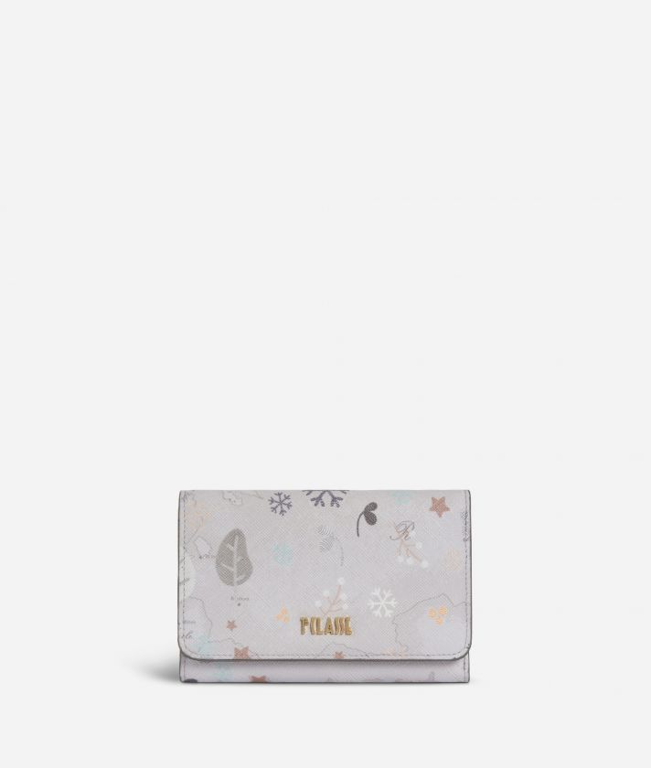 White Snow Small Wallet White