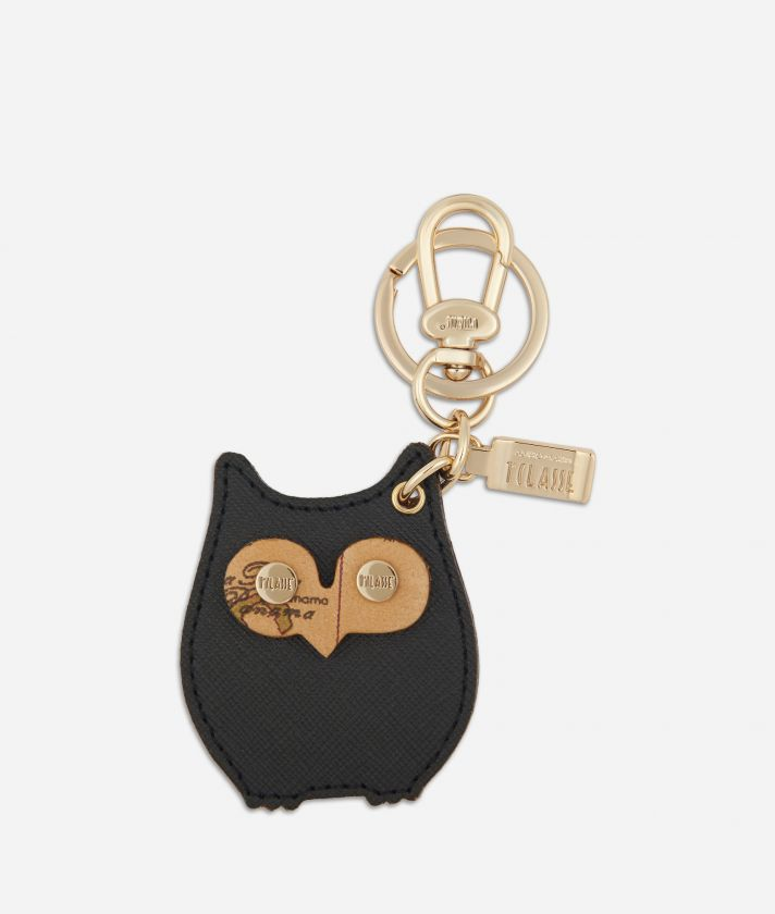 Star City Owl shape Keyring Black
