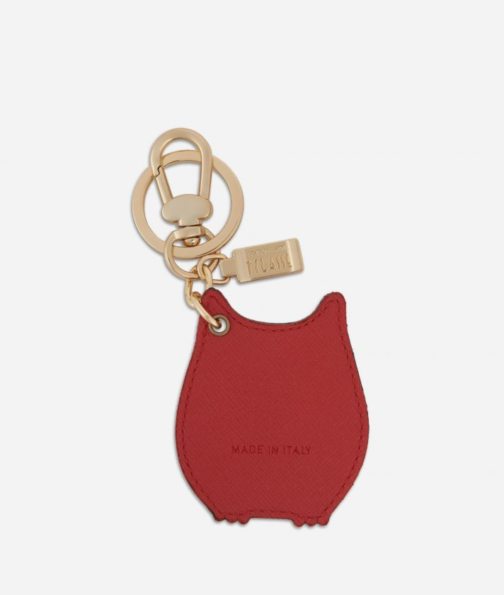 Star City Owl shape Keyring Red