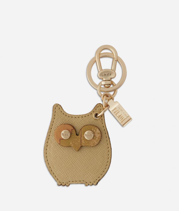 Star City Owl shape Keyring Gold