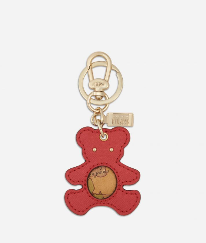Star City Bear shape keyring Red