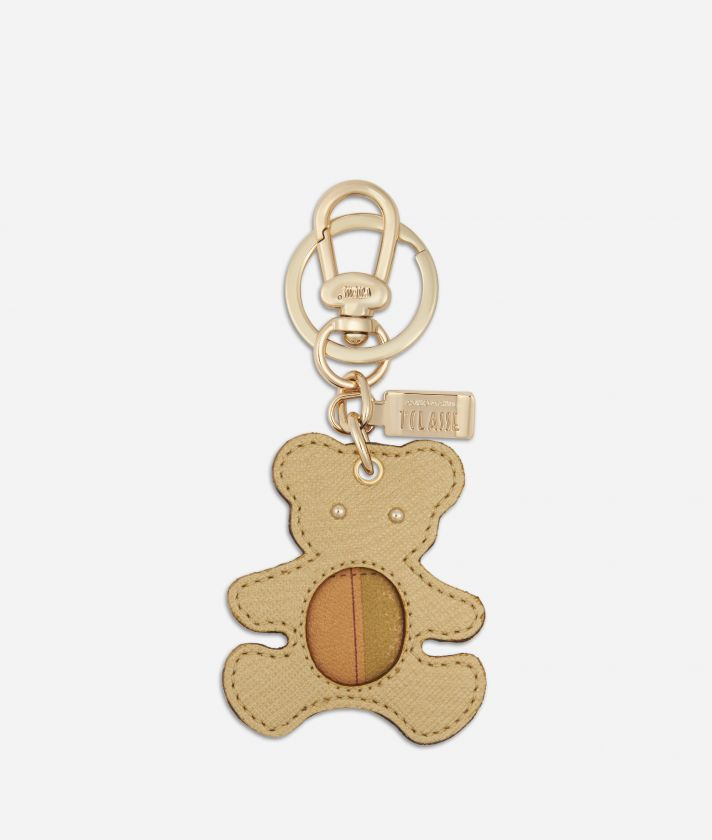 Star City Bear shape Keyring Gold