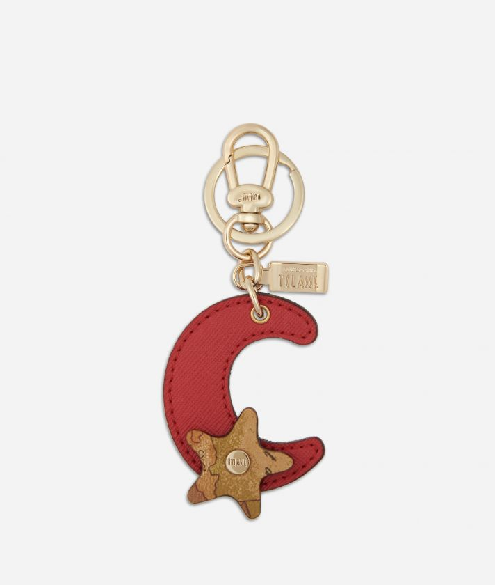 Star City Moon shape Keyring Red