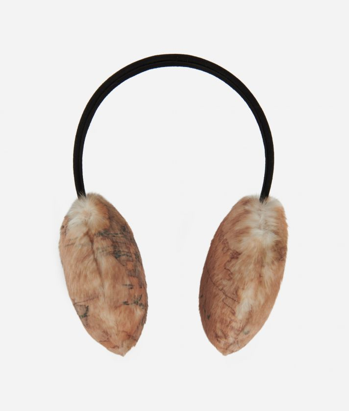 Artic Map Eco-fur Earmuffs