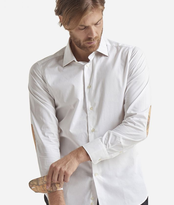 Slim-fit shirt with Geo Classic patches White