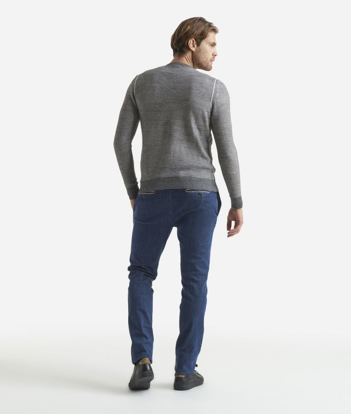 Wool blend crewneck sweater Grey