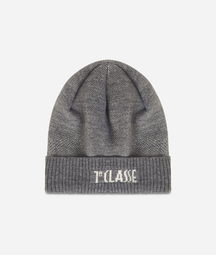 Wool bleand beanie Dark Grey