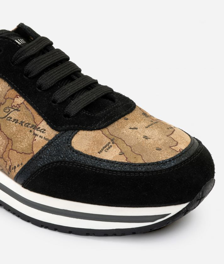 New Geo Crossing in Geo Nabuk fabric Black
