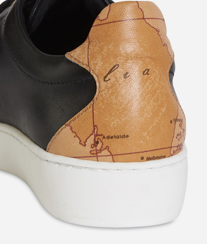 Sneakers in pelle Nera
