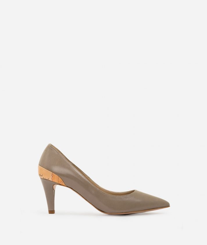 Nappa leather pumps Nude