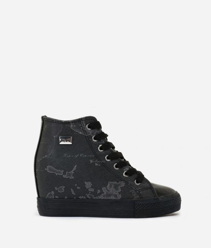 Sneakers con zeppa interna Nero