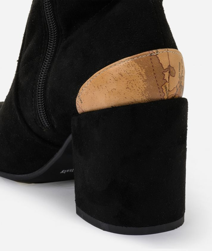 Suede leather cuissards Black