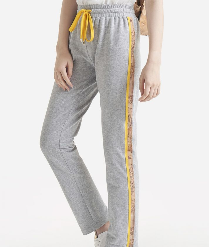Pantalone basic in felpa Grigio Chiaro