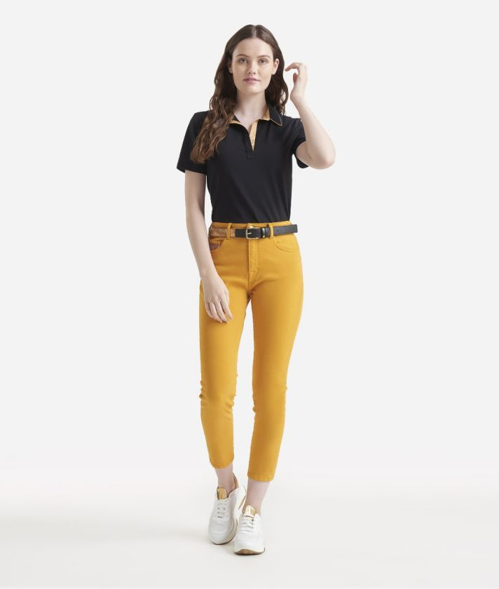5-pockets skinny trousers Yellow