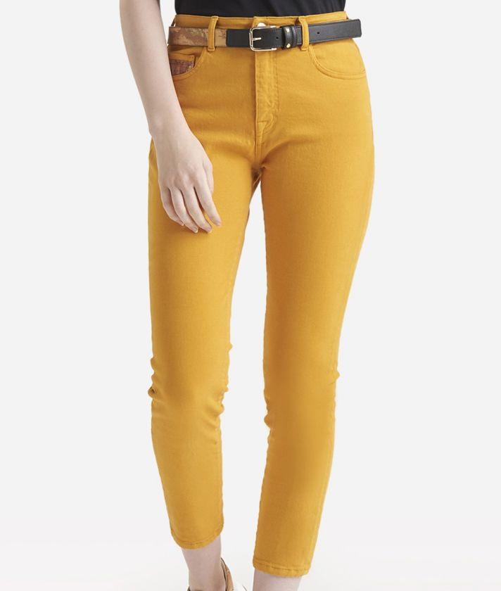 Pantalone 5-tasche skinny Giallo