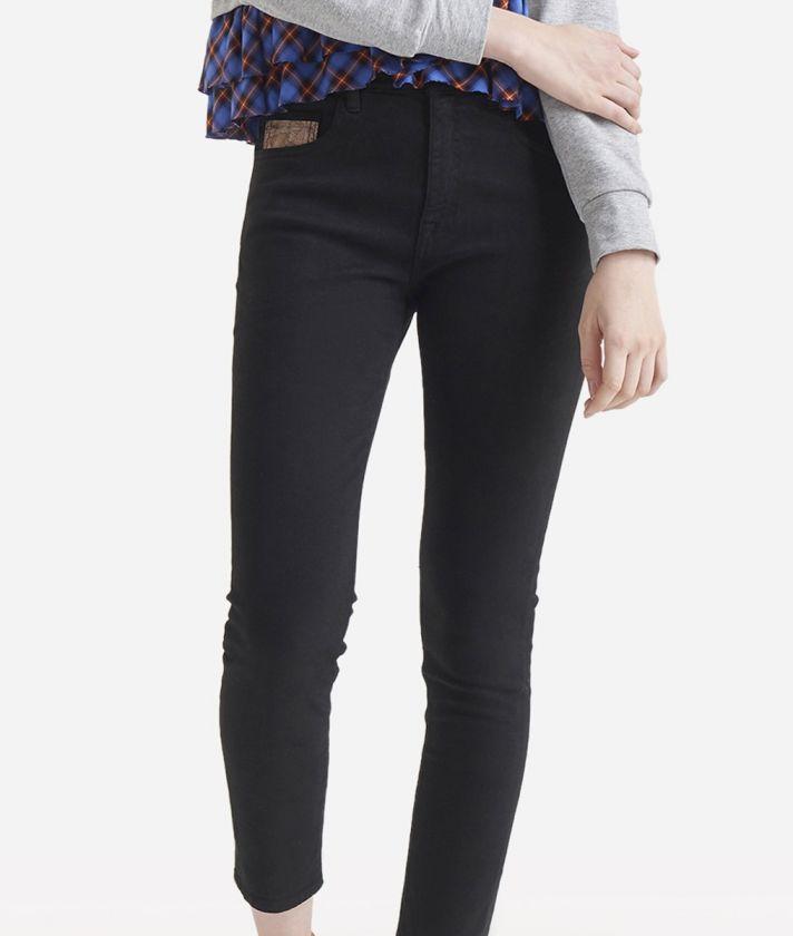Pantalone 5-tasche skinny Nero