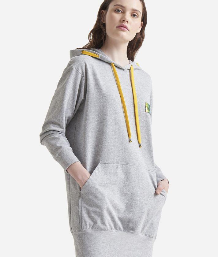 Mini abito in felpa Grigio