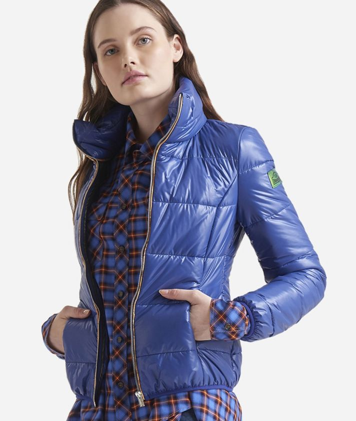 Padded nylon jacket Blue