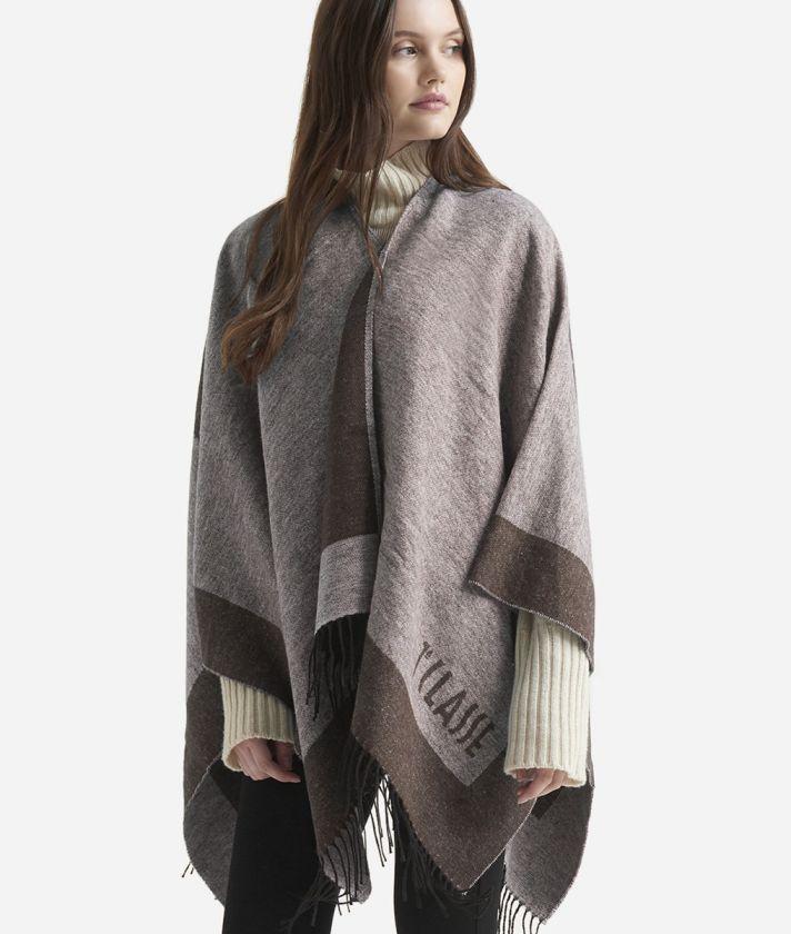 Geo Cornice print scarf150 x 150 Brown