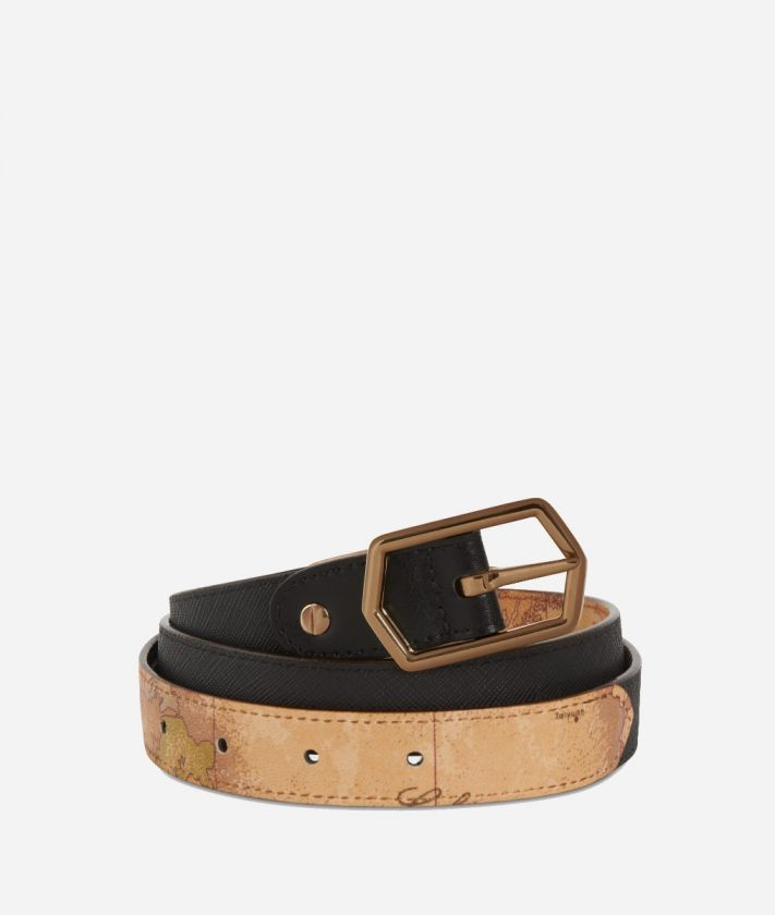 Sky City Reversible Belt Black