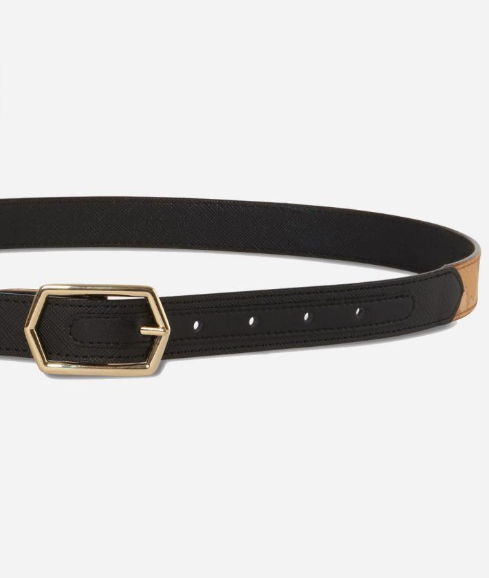 Sky City Reversible Belt Black