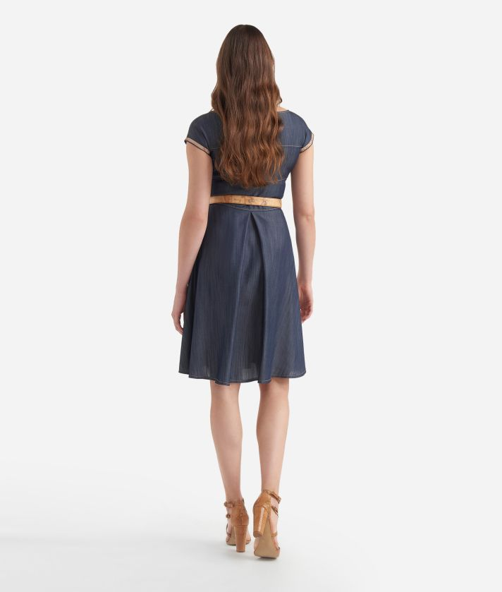 Chambray dress Dark Blue