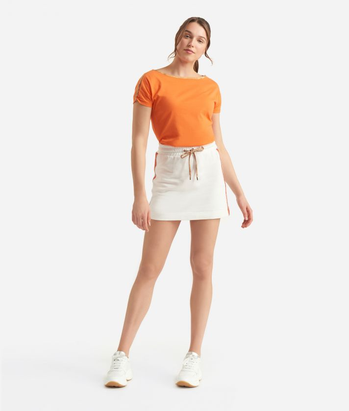 Donnavventura Kimono t-shirt in jersey cotton Orange