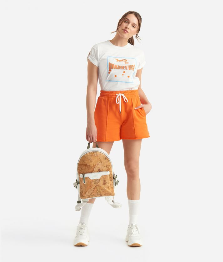 Donnavventura T-shirt in jersey cotton with Fresh Up print White
