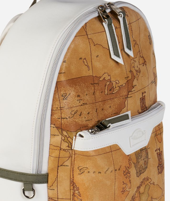 Donnavventura Backpack with Geo Classic print White