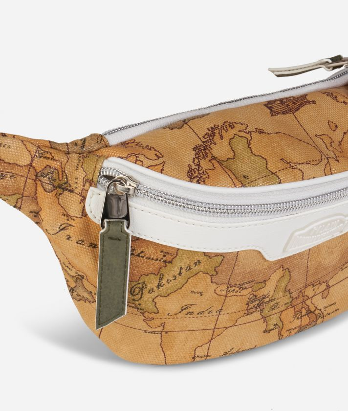 Donnavventura Belt bag with Geo Classic print White