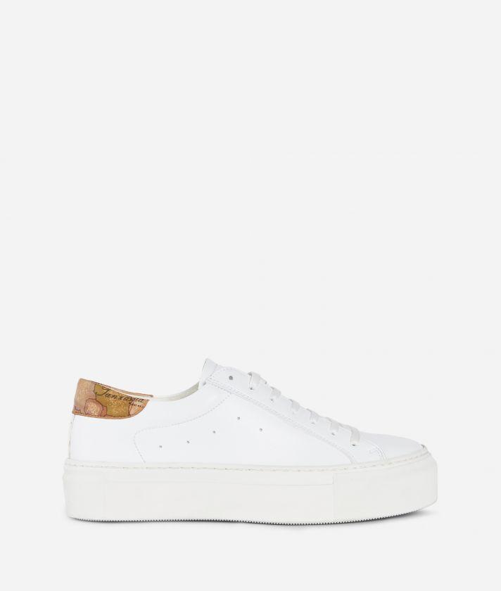 Donnavventura Sneakers in ecopelle e nappa Geo Classic Bianche