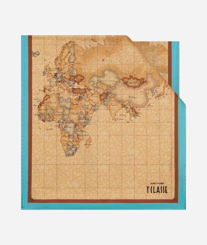 Geo Classic print stole 45 x 180 Light Blue