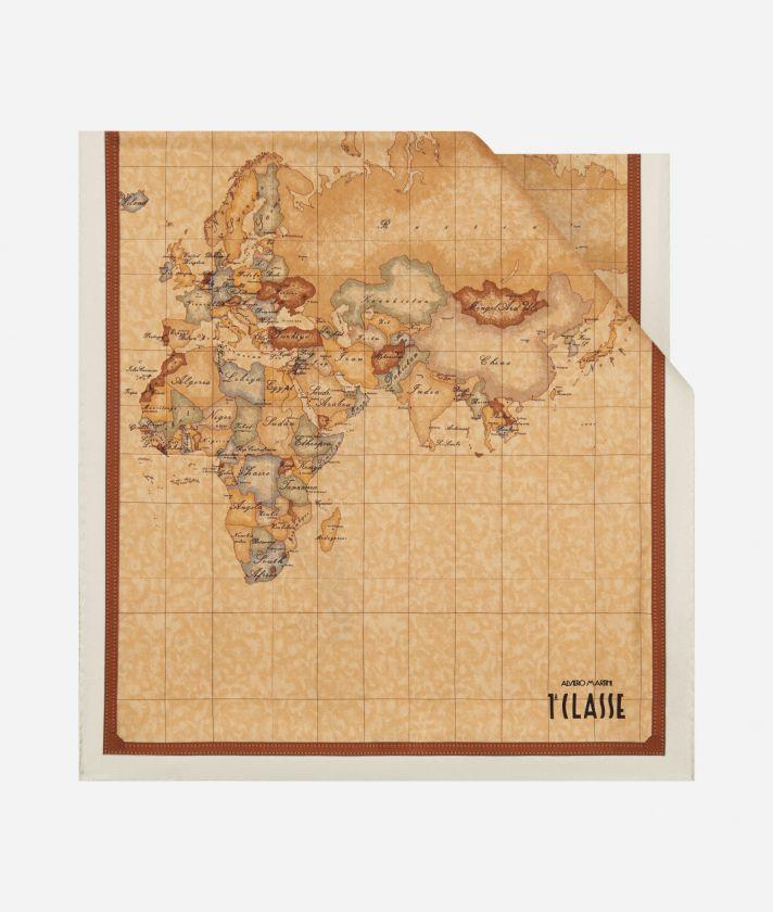 Geo Classic print stole 45 x 180 White