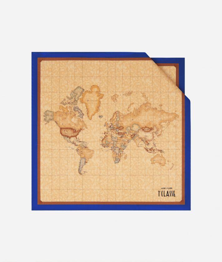 Geo Classic print foulard 50 x 50 Blue