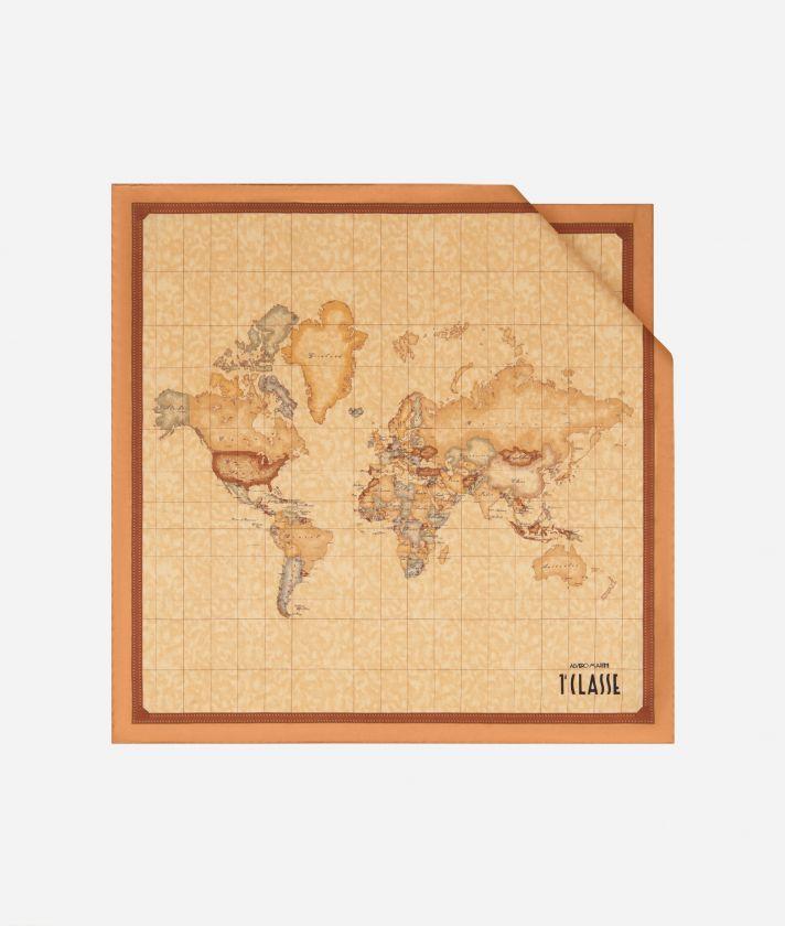 Geo Classic print foulard 50 x 50 Orange